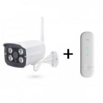 Готовый комплект 3G/4G видеонаблюдения с 1 уличной камерой PST-G420AH
