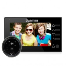 Видеоглазок Danmini Q10 черный HD c PIR датчиком движения
