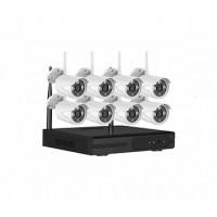IP Комплект беспроводного видеонаблюдения PST-WFK08C 1080P 2 Мп
