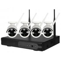 IP Комплект беспроводного видеонаблюдения PST-WFK04С 1080P 2 Мп